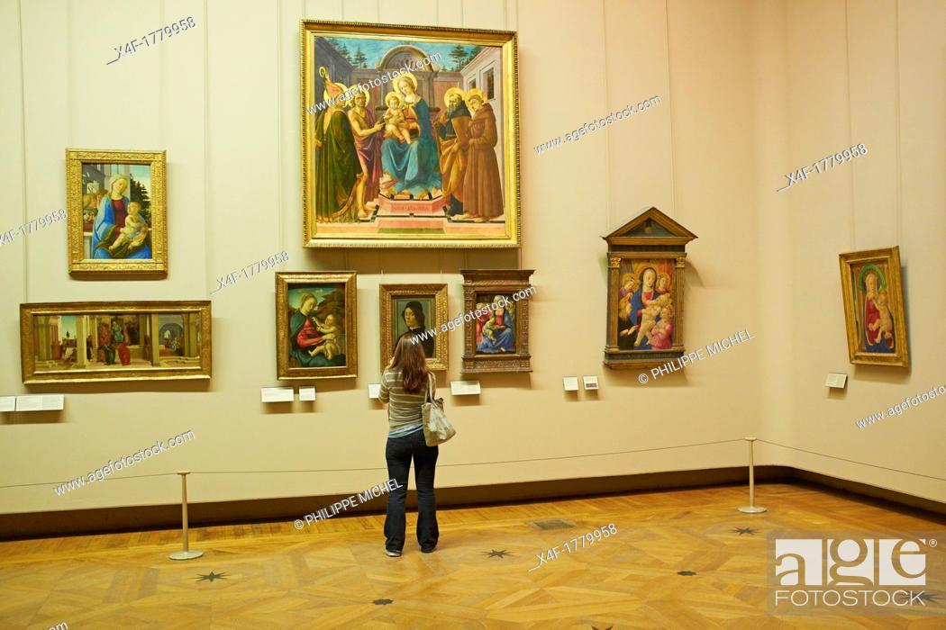 Stock Photo: France, Paris, Louvre museum.