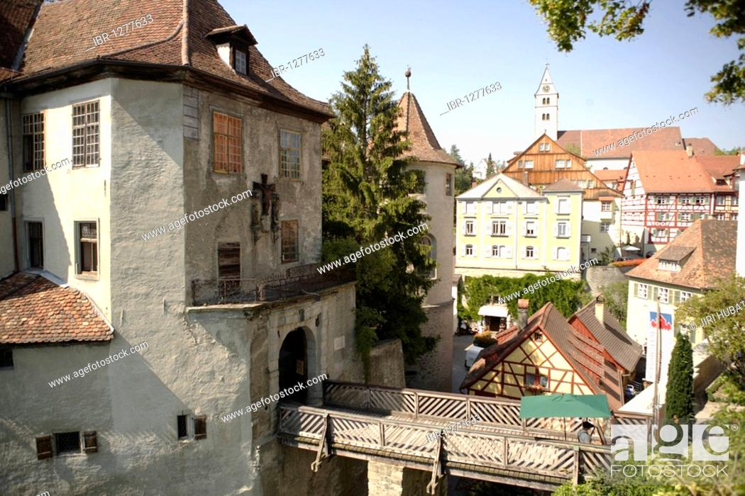 Stock Photo: Old castle, Meersburg Castle on Lake Constance, Tuebingen administrative district, Bodenseekreis, Baden-Wuerttemberg, Germany, Europe.