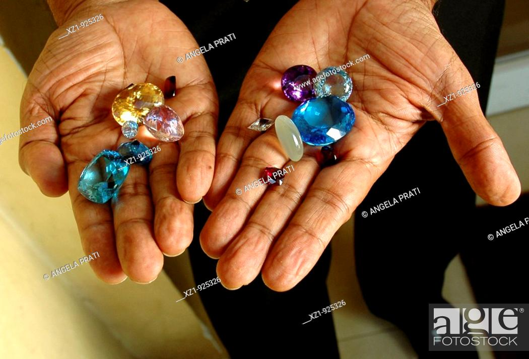 Stock Photo: Precious stones shop, Colombo, Sri Lanka.