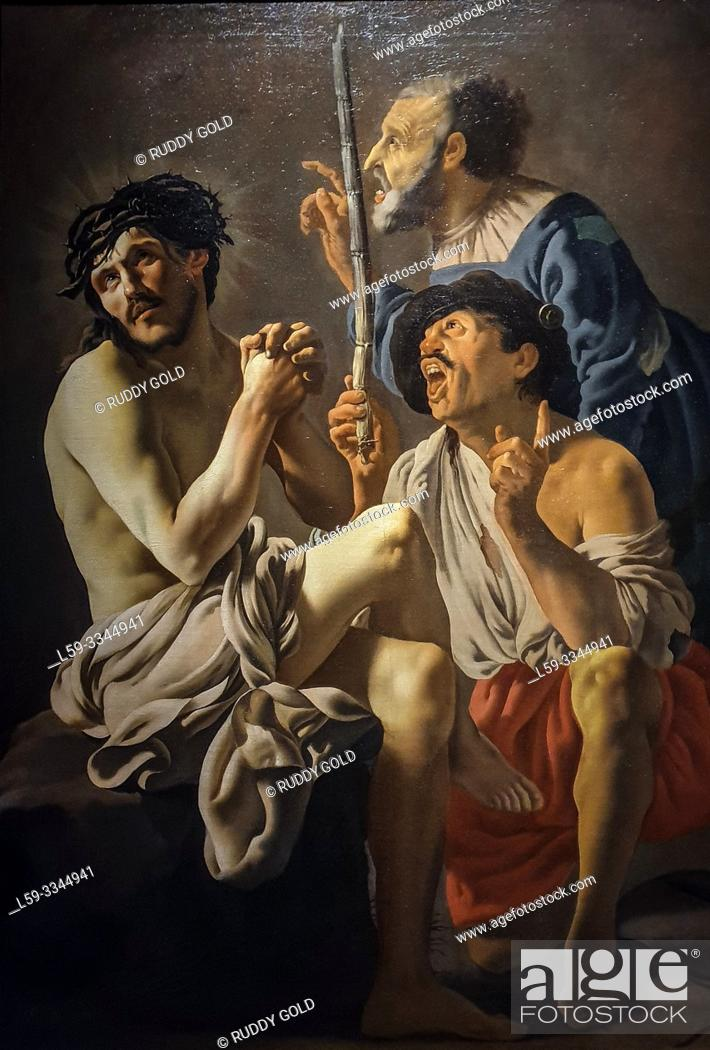 Stock Photo: 'THe Mocking of Christ', 1625, Hendrick ter Brugghen (1588-1629).