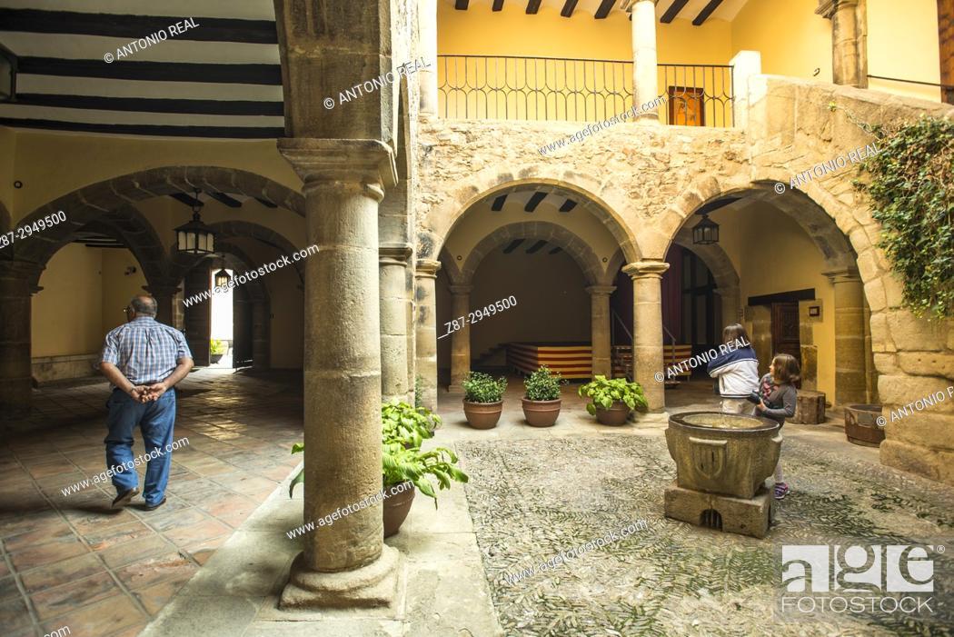 Stock Photo: Town Hall, Rubielos de Mora. Camino del Cid. Aragón. Spain.