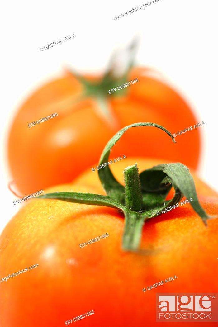 Stock Photo: Two tomatoes.