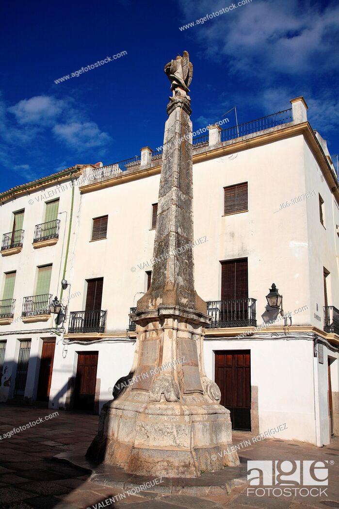 Stock Photo: Triumph of San Rafael in the Plaza del Potro. Córdoba.