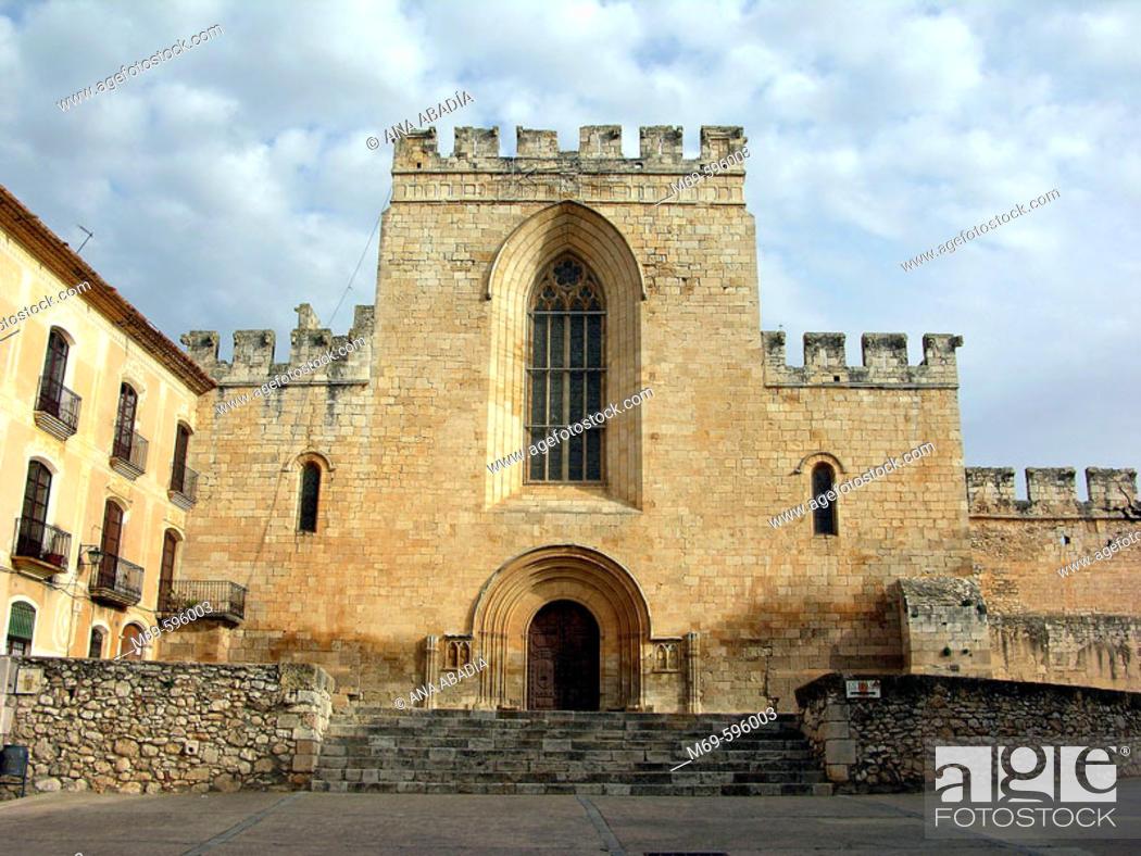 Stock Photo: Santes Creus Cistercian monastery. Tarragona province, Catalonia, Spain.