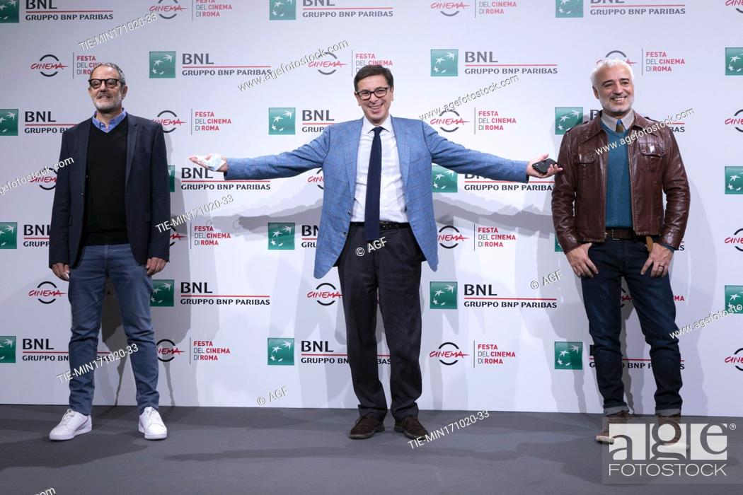 "Stock Photo: Michel Ruben, Antonio Monda, Javier Fuentes Leon attends the photocall of the movie """"Las Mejores Familias"""" (The Best Families) during the 15th Rome Film."