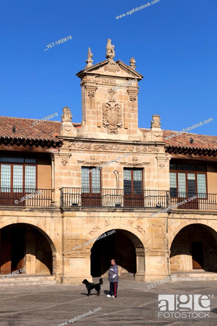 Stock Photo: City hall of Santo Domingo de la Calzada, La Rioja, Spain.