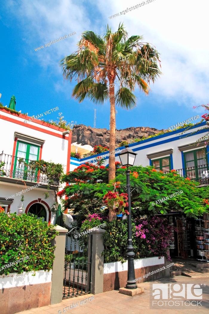 Stock Photo: Mogan municipality in Gran Canaria island.