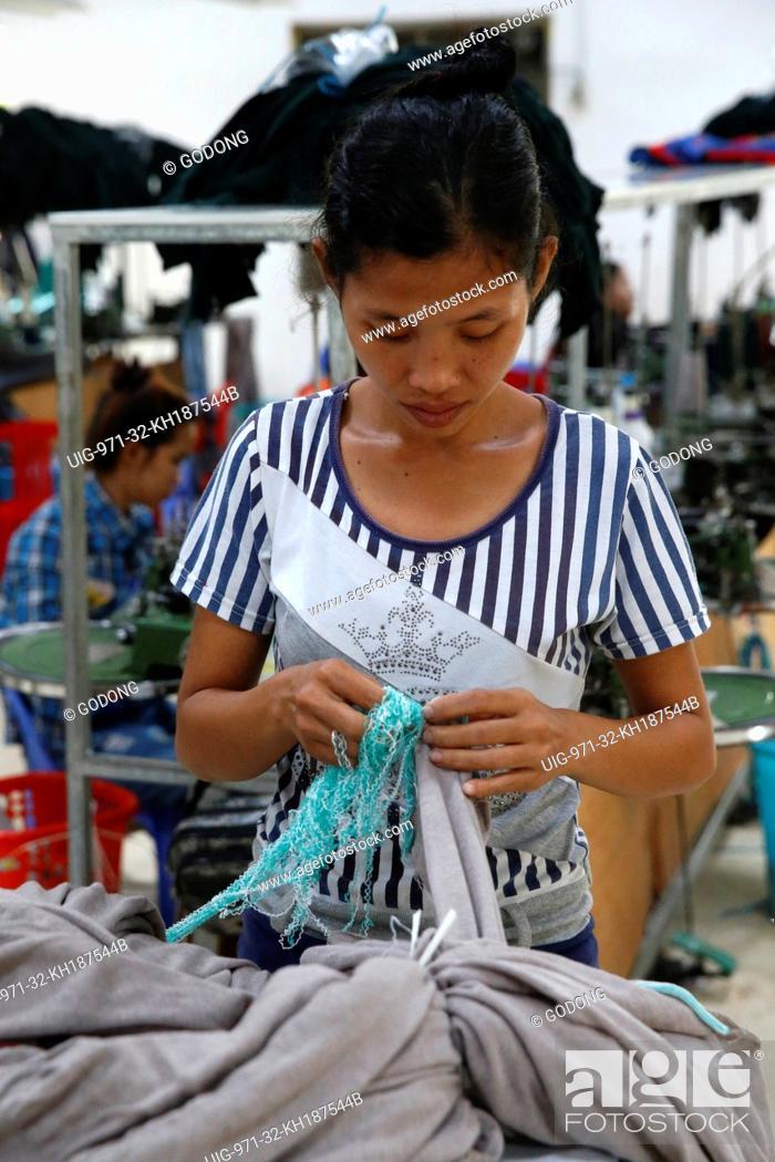 Stock Photo: Textile factory run by the catholic church in Battambang.