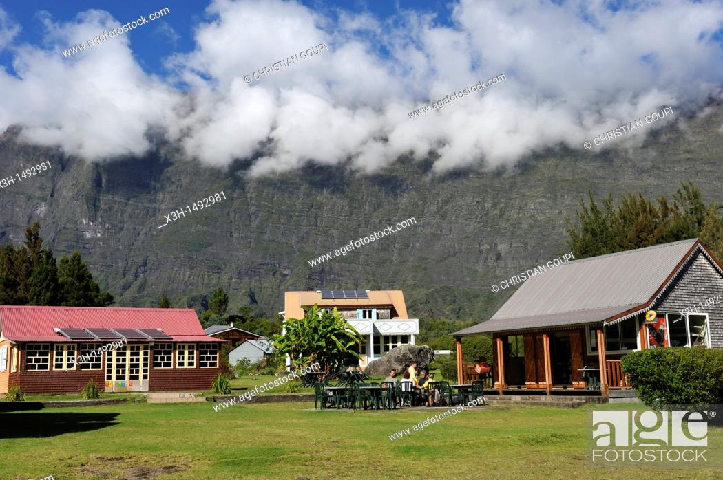Stock Photo Creole House Of La Nouvelle Village In Mafate Cirque Reunion Island Overseas Departement France Indian Ocean