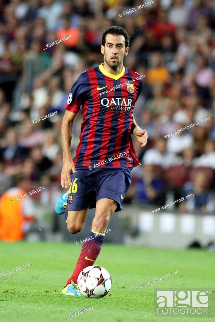 Stock Photo: FC Barcelona. Sergio Busquets in action.