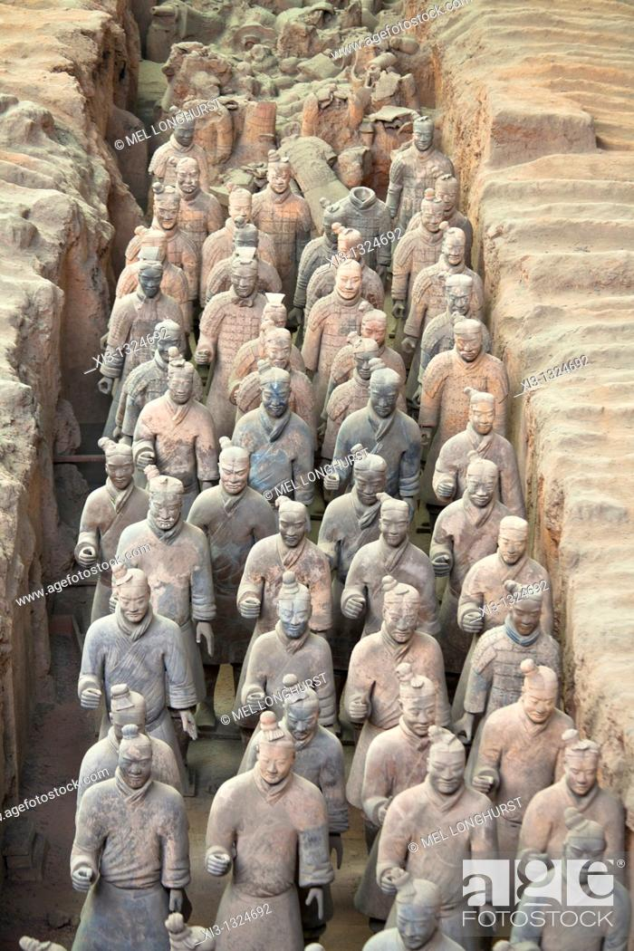 Stock Photo: Terracotta army, Xi'an, Shaanxi Province, China.