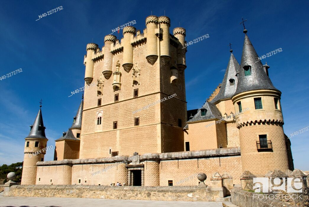 Stock Photo: Alcázar of Segovia, Spain.