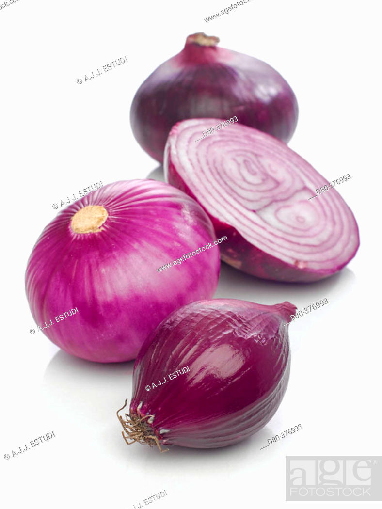 Stock Photo: Red onions.