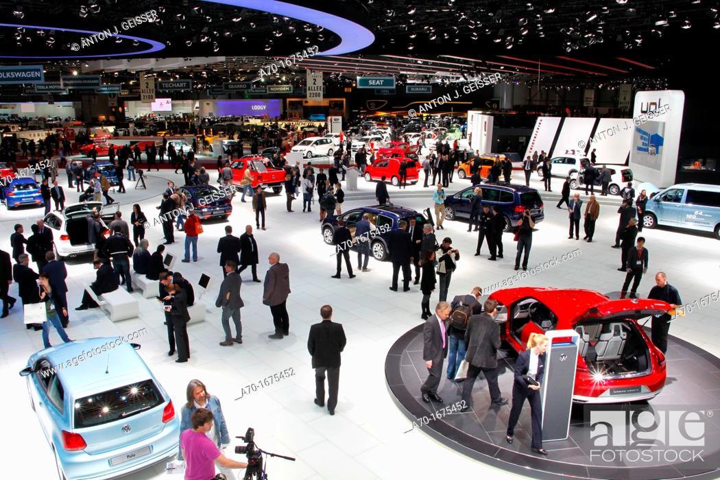 Stock Photo: Geneva motor show.