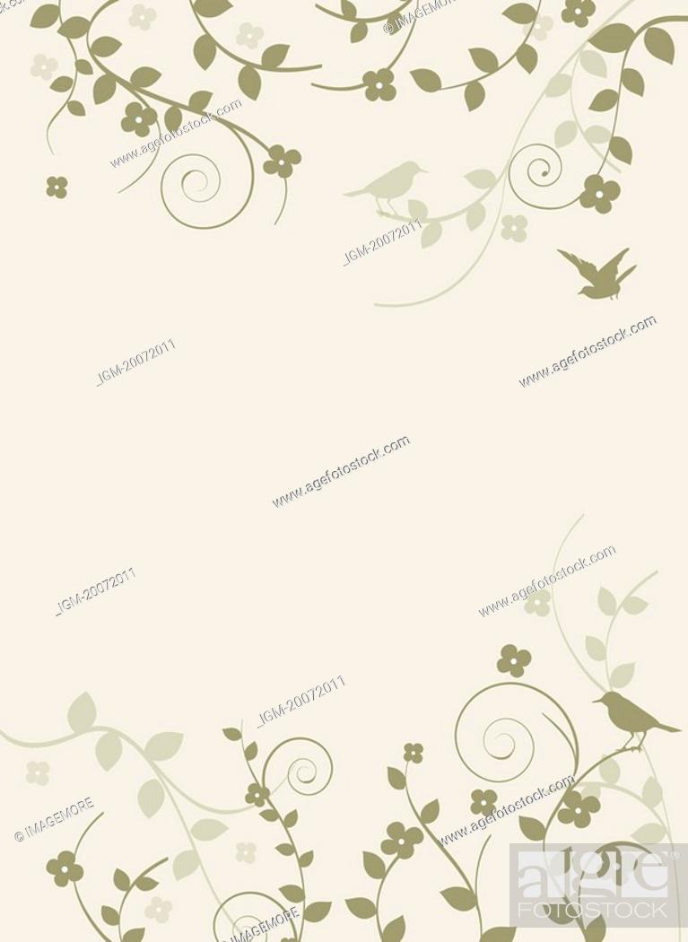Stock Photo: Illustration and painting with floral pattern.