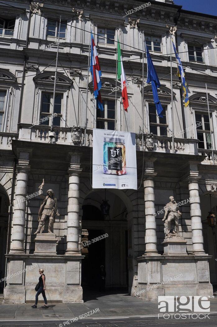 Stock Photo: Turin, Italy: Palazzo Civico (City Hall).