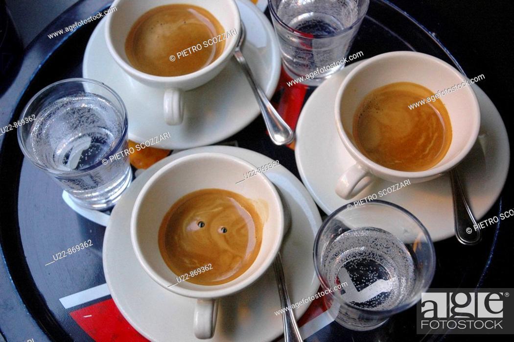 Stock Photo: Bologna (Italy), espresso coffee.