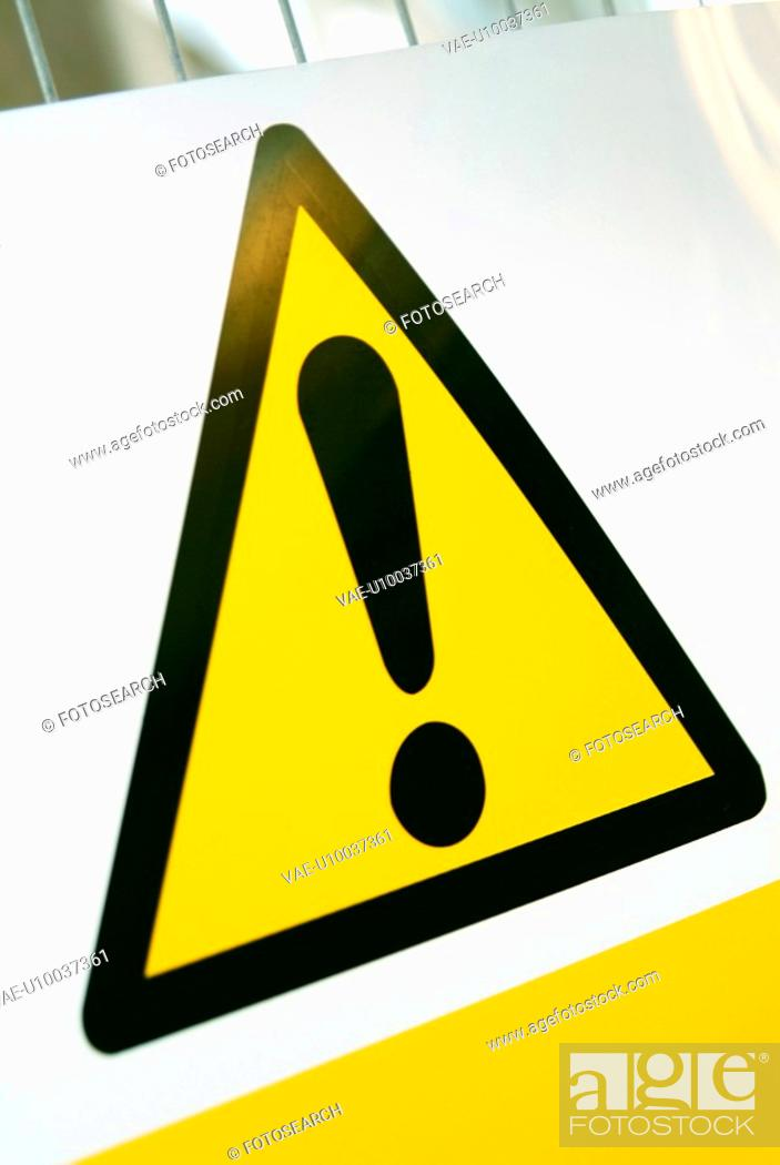 Stock Photo: Safety sign preventing public access.