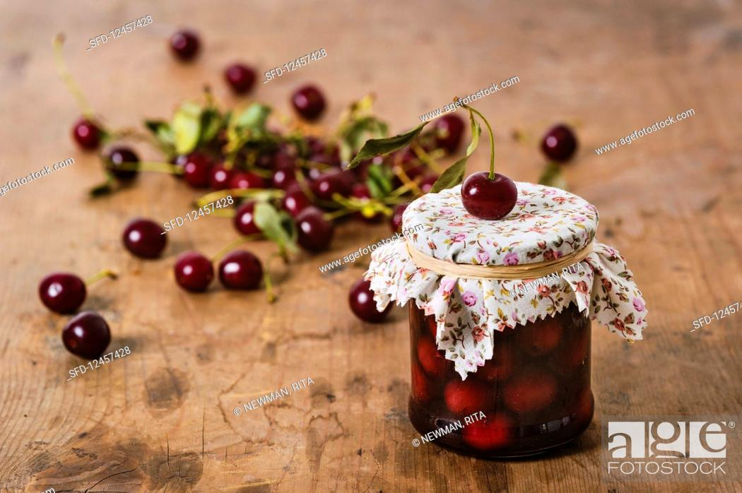 Stock Photo: Sour cherry compote.