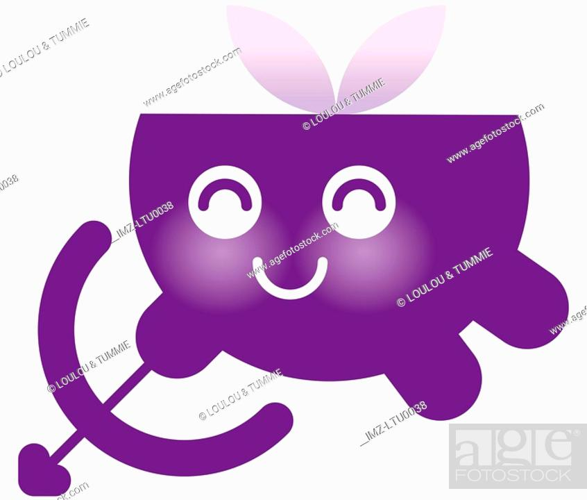 Stock Photo: A cute Sagittarius character with bow and arrow.