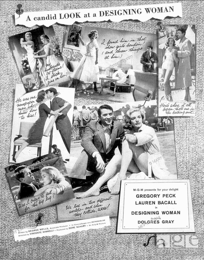 Designing woman Lauren Bacall vintage movie poster