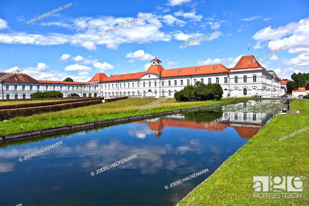 Stock Photo: park in nymphenburg castle, munich.