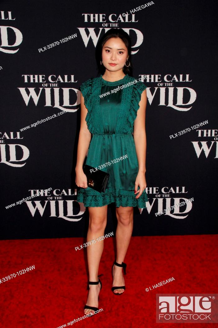"""Stock Photo: Ashley Liao 02/13/2020 The World Premiere of """"""""The Call of the Wild"""""""" held at The El Capitan Theatre in Los Angeles, CA. Photo by I."""