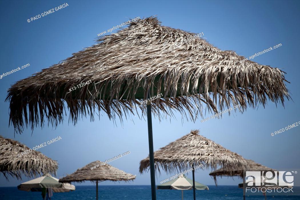 Stock Photo: Beach  Santorini, Cyclades Islands, Greece.