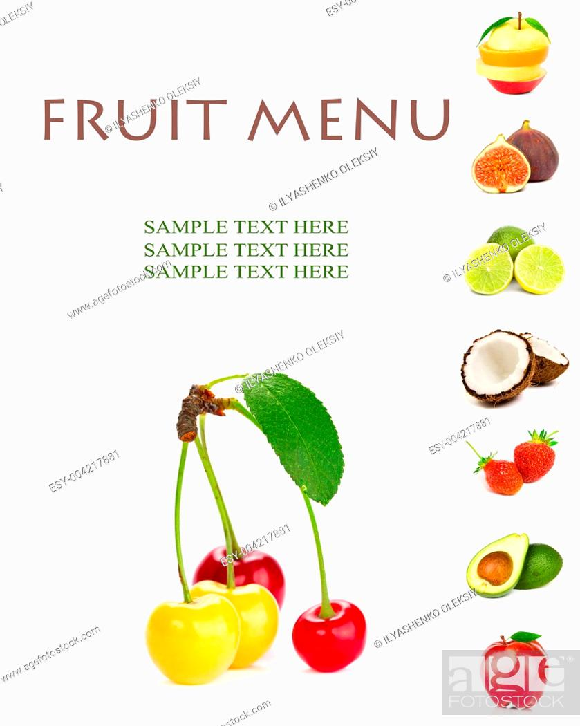 Stock Photo: FRUIT MENU.
