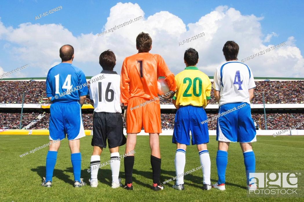 Stock Photo: Soccer Players.