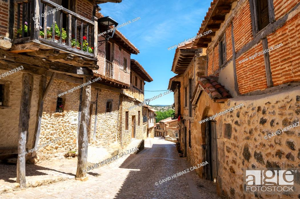 Stock Photo: Medieval village of Calatanazor in Soria, Castilla y Leon, Spain. High quality photo.