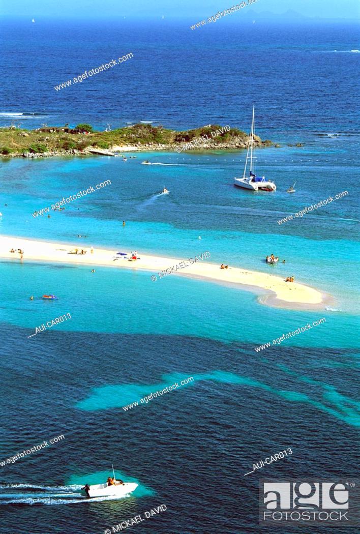 Stock Photo: Caribbean - Saint Martin - Pinel Islet - Cul de Sac.
