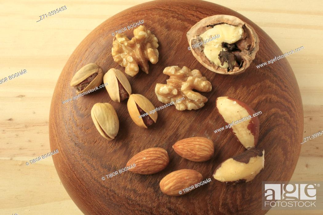 Photo de stock: Mixed nuts;.