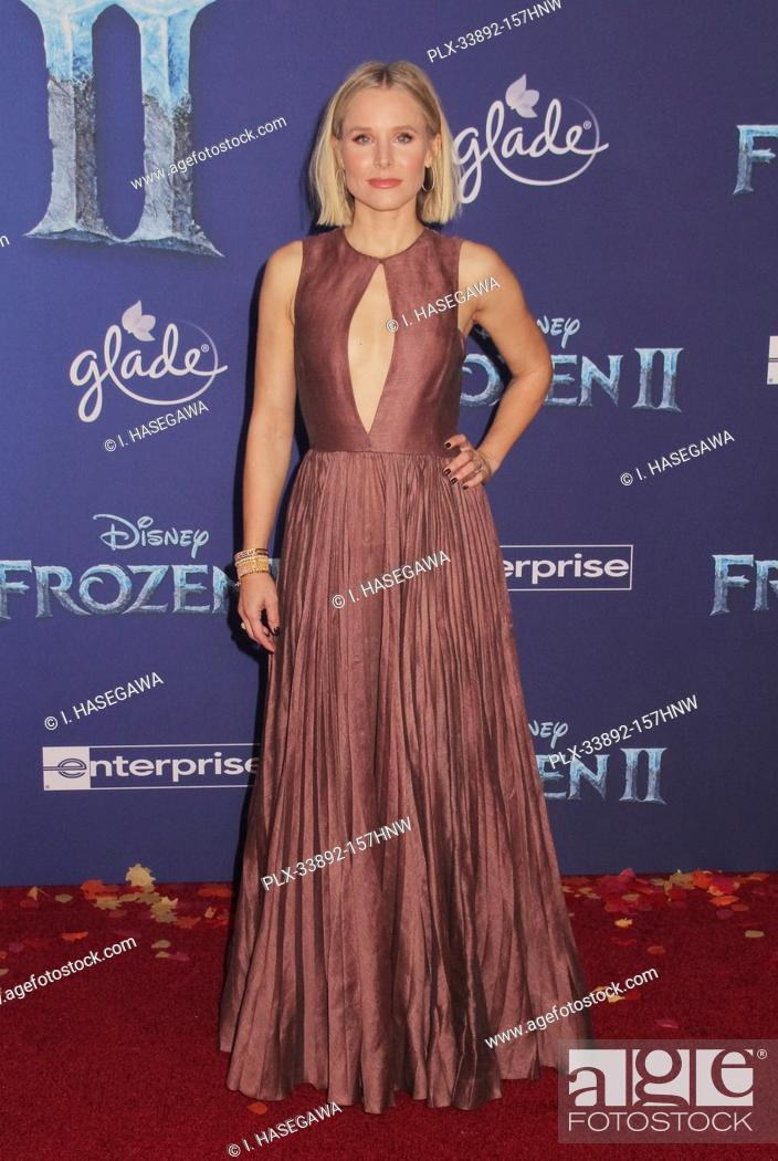 """Stock Photo: Kristen Bell 11/07/2019 The World Premiere of """"""""Frozen 2"""""""" held at the Dolby Theatre in Los Angeles, CA. Photo by I. Hasegawa / HNW / PictureLux."""