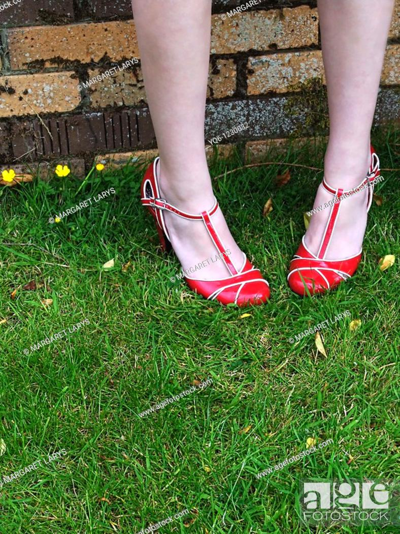 Stock Photo: Red shoes.