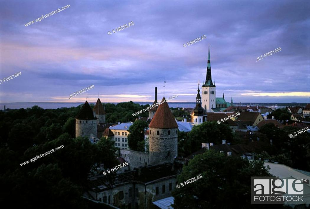 Stock Photo: Estonia, Tallinn, Old Town.