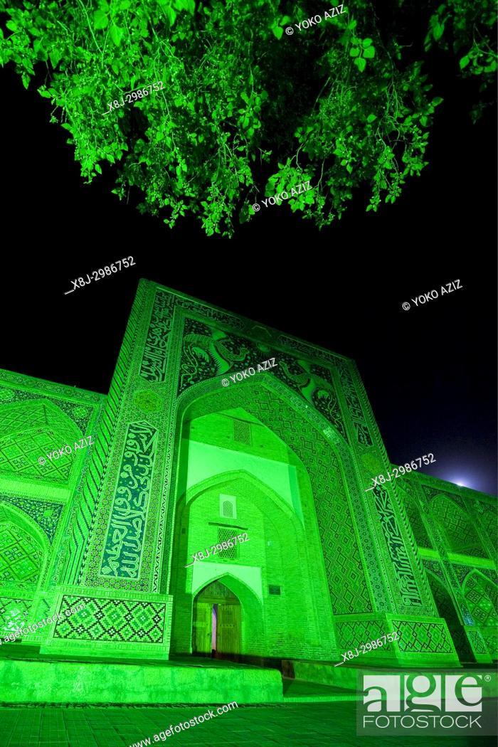 Imagen: Uzbekistan, Bukhara, Nodir Devon Begi madrasah.
