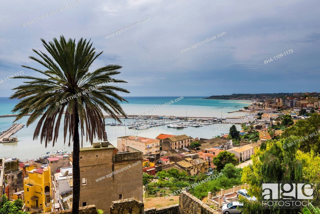 Stock Photo: Fishing harbour in the fishing town of Sciacca, Agrigento Province, Sicily, Italy, Mediterranean, Europe.