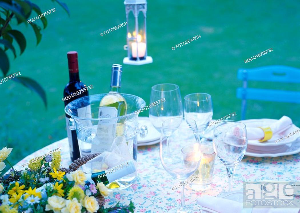 Stock Photo: Ready for Garden Party.