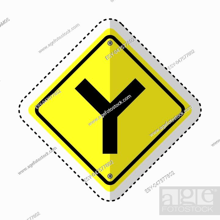 Stock Vector: traffic signal information icon vector illustration design.