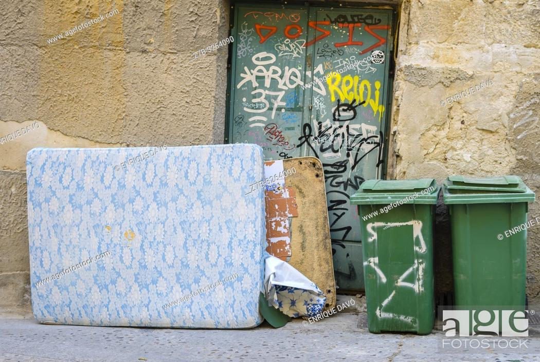 Stock Photo: View a street in old town Cuenca city, Spain.