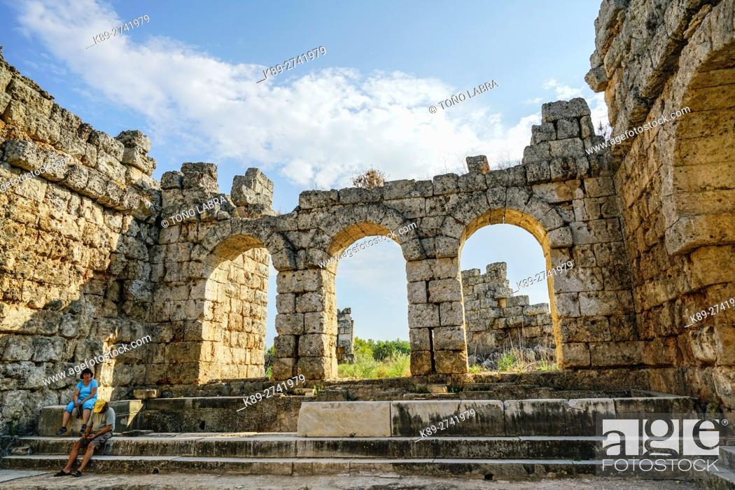 Stock Photo: Perge Baths. Old capital of Pamphylia Secunda. Ancient Greece. Asia Minor. Turkey.