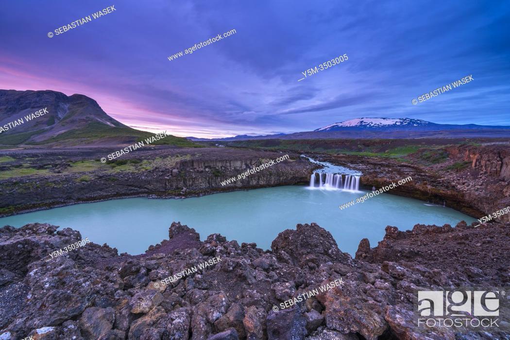 Stock Photo: Þjófafoss, Southern Region, Iceland.