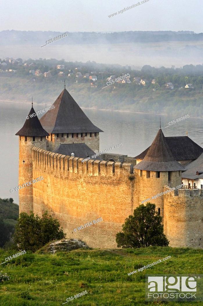 Stock Photo: Khotyn, Chocim, Fortress, citadel, 13th-15th-18th century, Dniester river, Chernivtsi Oblast province, Western Ukraine.
