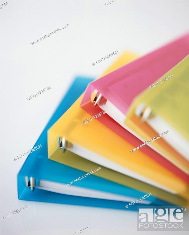 Stock Photo: Colored Files.