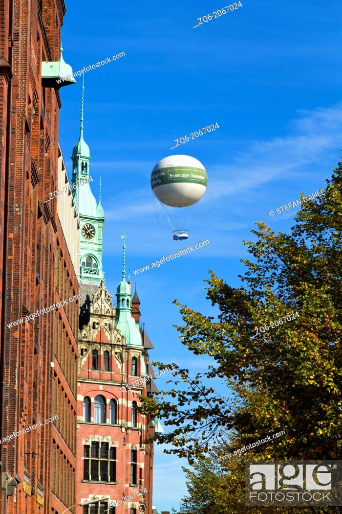 Stock Photo: Typical Buildiung in the Warehouse District of Hamburg, Germany.