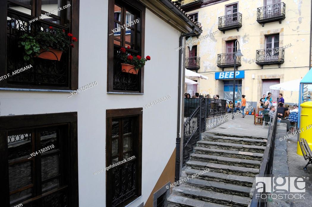 Stock Photo: Cangas de Narcea, Asturias, Spain.
