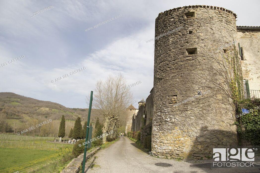 Imagen: Medieval bastide of Camon South of. France.