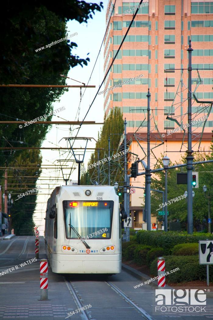 Stock Photo: Portland MAX commuter train.