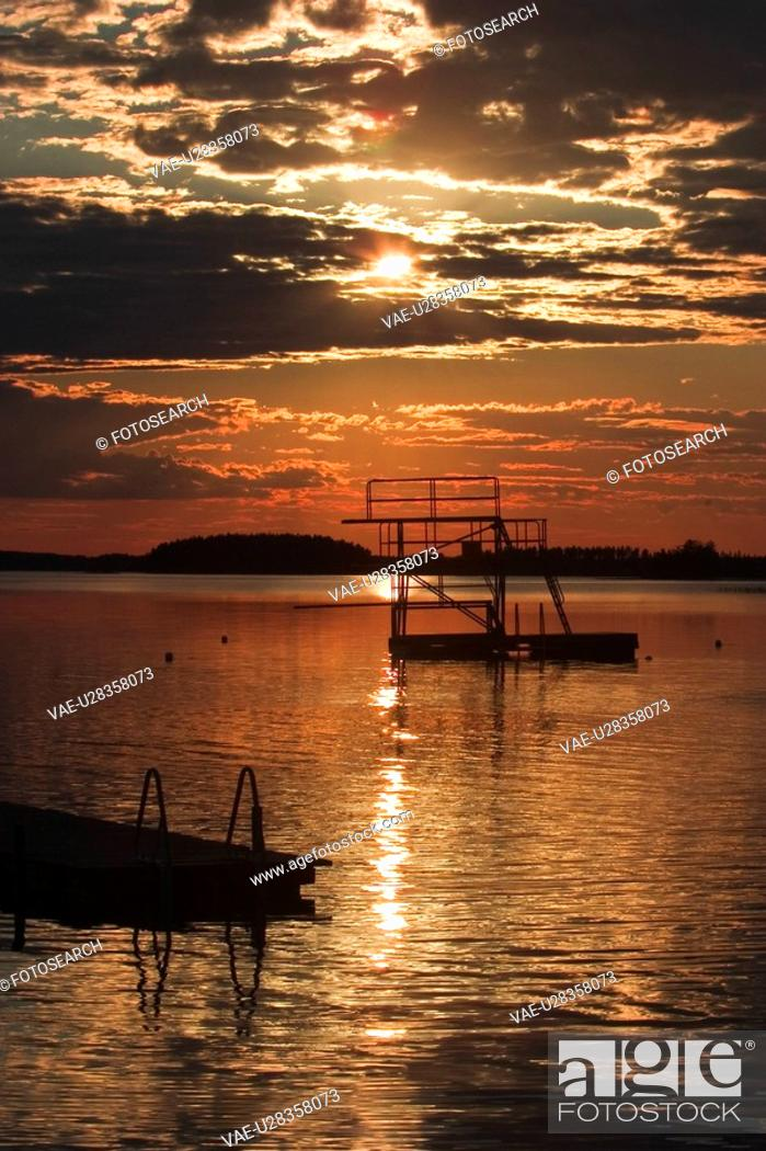 Stock Photo: Clouds, Dawn, Dusk, Glow, Milieu.